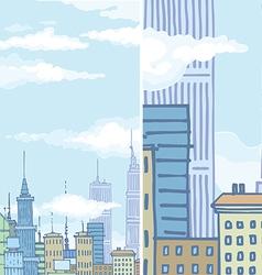 Huge City Buildings vector image vector image