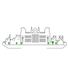 isolated berlin cityscape vector image