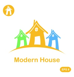 Modern house icon vector image vector image