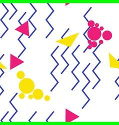 pop art zigzag pattern vector image vector image