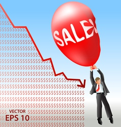 Sales plan disaster vector