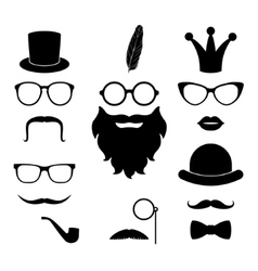 Set of hipster photosession accessories vector