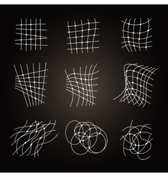 Types Of Chaos Grids Set on black vector image