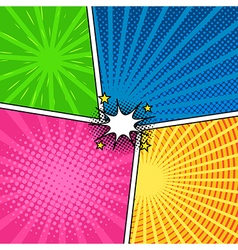 Comic magazine background set with speech bubbles vector image vector image