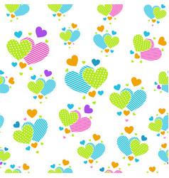 cute carrtoon hearts for scrapbook paper vector image vector image
