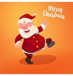 Santa with typography gritings vector image vector image