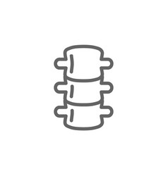 simple backbone line icon symbol and sign vector image vector image