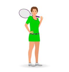 sport people concept tennis woman vector image