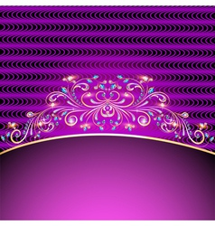 background with jewels golden ornament vector image
