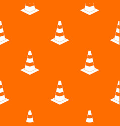 traffic cone pattern seamless vector image vector image
