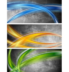 Colourful waves banners vector image vector image