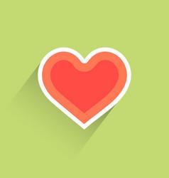 flat heart heart icon vector image