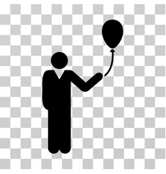 man with holiday balloon icon vector image