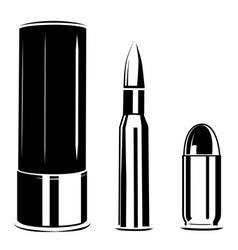 Set bullet caliber of weapon vector
