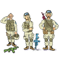 There Soldiers vector image vector image