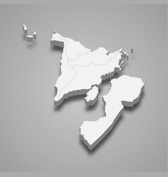 3d isometric map western visayas is a region vector