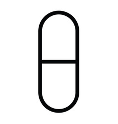 a capsule healthcare outline icon vector image