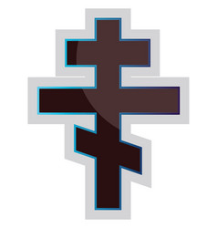 a russian orthodox cross on a white background vector image