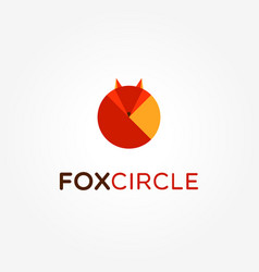 abstract circle fox shape logo sign symbol icon vector image