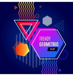 Abstract Colorful Geometric Template vector