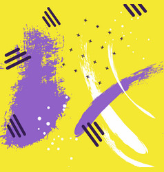 Abstract creative yellow violet pattern vector