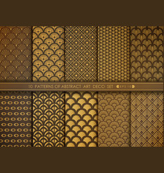 abstract luxury space style antique gold art vector image