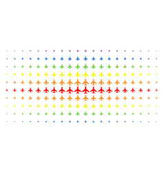 air plane spectral halftone array vector image