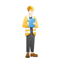 architect or engineer brought checklist vector image