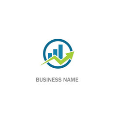 arrow progress graph business logo vector image