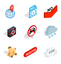 Assessment icons set isometric style vector