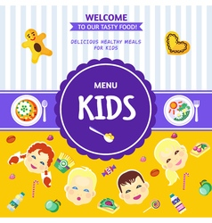 Baby Food Menu Flat Poster vector