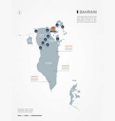 bahrain infographic map vector image