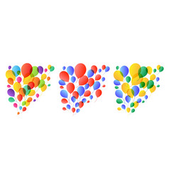 balloons background birthday party holiday vector image