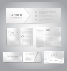 banner flyers brochure business cards gift vector image