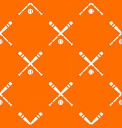 Baseball bat and ball pattern seamless vector