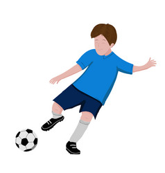 boy playing soccer - isolated on white background vector image