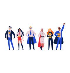 businessmen superheroes entrepreneur manager in vector image