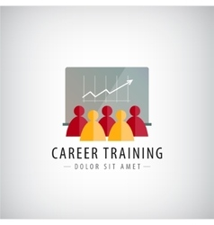 Career training business meeting teamwork vector