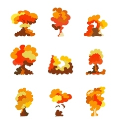 Cartoon explosion effect set Explode flash vector image