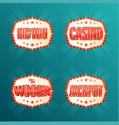 casino jackpot the winner big win banners vector image