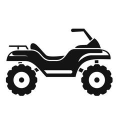 Challenge quad bike icon simple style vector