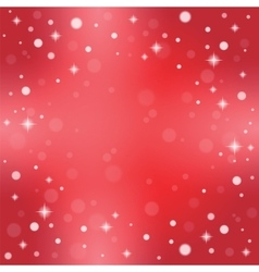 Christmas snowflakes on a red background vector image