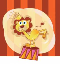 circus lion vector image