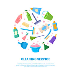 cleaning service banner template various cleaning vector image
