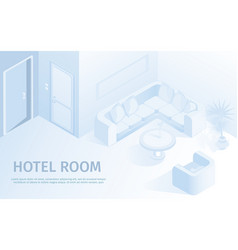Comfortable hotel apartment vector