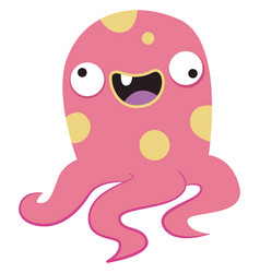 Crazy octopus on white background vector