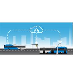 Data exchange between public transport vector