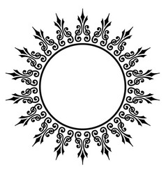 Decorative round frame ancient art vector