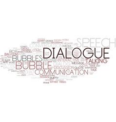 Dialogue word cloud concept vector