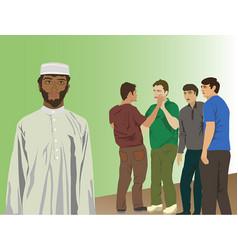 Discrimination religion and color vector